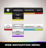 Menú de la navegación del Web Foto de archivo