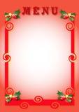 Menú de la Navidad Imágenes de archivo libres de regalías