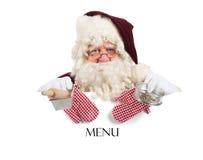Menú de la Navidad Imagen de archivo