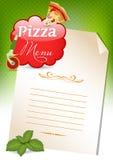 Menú de la pizza Fotos de archivo