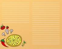 Menú de la pizza stock de ilustración