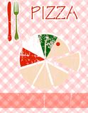 Menú de la pizza Imagen de archivo