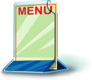 Menú de la placa de Plexiglás Imagenes de archivo