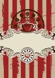 Menú de la taza de Coffe Imagenes de archivo