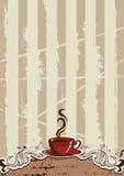Menú de la taza de Coffe Imagen de archivo libre de regalías