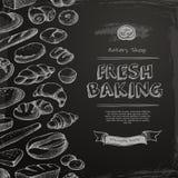 Menú de la tienda de la panadería libre illustration