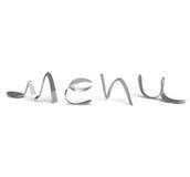 Menú de los cubiertos, logotipo Fotos de archivo