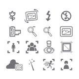 Menú de los iconos de la cámara Imagen de archivo
