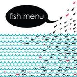 Menú de los pescados Fotos de archivo libres de regalías