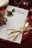 Menú de Navidad Imagen de archivo libre de regalías