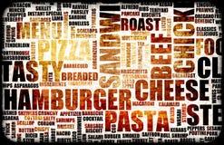 Menú del alimento Imagen de archivo