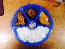 Menú del almuerzo Imagen de archivo libre de regalías