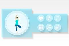 Menú del app de la aptitud y de la salud Fotografía de archivo libre de regalías