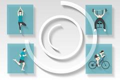 Menú del app de la aptitud y de la salud Fotos de archivo libres de regalías