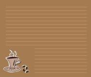 Menú del café ilustración del vector