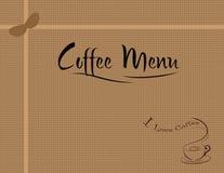 Menú del café Imágenes de archivo libres de regalías