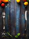 Menú del café de Art Restaurant Imagenes de archivo