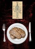 Menú del cerebro Fotografía de archivo libre de regalías