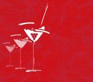 Menú del concepto de la tarjeta del vino con los vidrios Libre Illustration