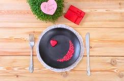 Menú del día de San Valentín Imagenes de archivo