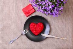 Menú del día de San Valentín Imagen de archivo