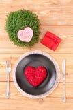 Menú del día de San Valentín Fotos de archivo libres de regalías