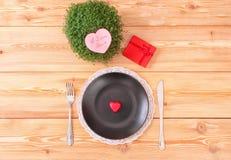 Menú del día de San Valentín Foto de archivo