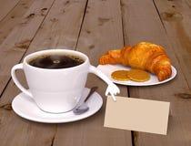 Menú del desayuno Fotos de archivo libres de regalías