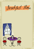 Menú del desayuno Imagen de archivo