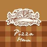 Menú del diseño de la pizza Imagenes de archivo
