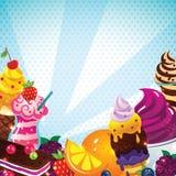 Menú del helado Fotos de archivo libres de regalías