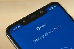 Menú del Microsoft Office fotos de archivo