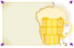 Menú del partido con la cerveza fría Imagenes de archivo