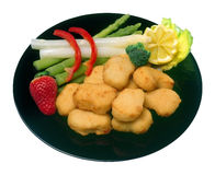 Menú del pollo Imagen de archivo libre de regalías