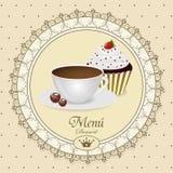 Menú del postre Imagen de archivo libre de regalías