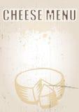Menú del queso stock de ilustración
