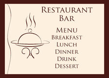 Menú del restaurante Fotos de archivo