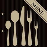 Menú del restaurante Imagen de archivo