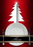 Menú del restaurante de la Navidad Fotos de archivo libres de regalías