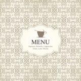 Menú del restaurante o del café Foto de archivo libre de regalías