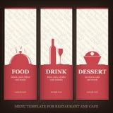 Menú del restaurante o del café Fotografía de archivo libre de regalías