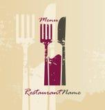 Menú del restaurante y diseño de la insignia Foto de archivo
