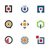 Menú del software de aplicación que comparte las ideas para el icono futuro móvil del logotipo Imagen de archivo libre de regalías