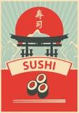 Menú del sushi Fotos de archivo