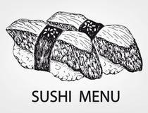Menú del sushi Foto de archivo