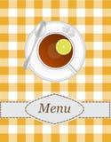 Menú del té libre illustration
