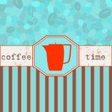 Menú del tiempo del café ilustración del vector