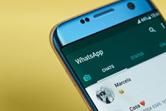 Menú del uso de Whatsapp Foto de archivo