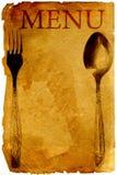 Menú del viejo estilo Imagen de archivo libre de regalías