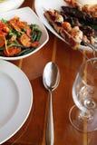 Menú determinado del alimento del restaurante Imagen de archivo